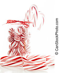 Peppermint candies - Gourmet white and red peppermint...