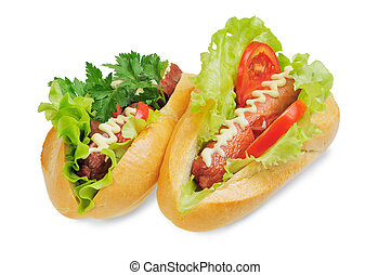 Two tasty and delicious hotdog