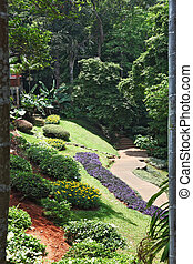 Tropical park - Huge picturesque landscape park in Thailand....