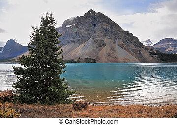 Brilliant turquoise Bow Lake