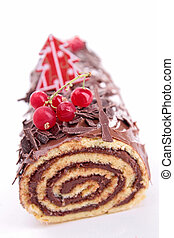 isolated yule log