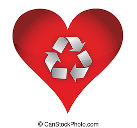 love recycle concept
