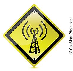 wifi yellow sign