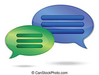 talking message bubbles