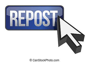 repost button and cursor