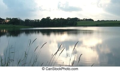 Camera Shoots Pictures of Peaceful Lake - Image of pretty...
