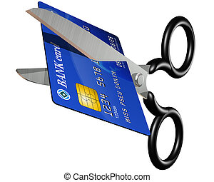 No more credit - Isolated illustration of a credit card...