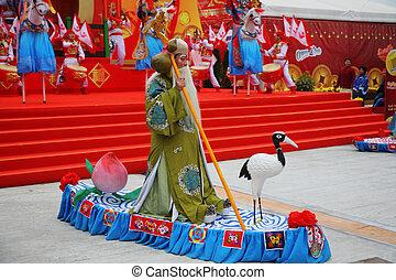 concierto, chino, nuevo, año