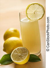 lemonade - fresh lemonade in glass close up shoot