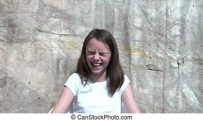 Girl Laughing and Smiling Emotion - Girl in brilliant...