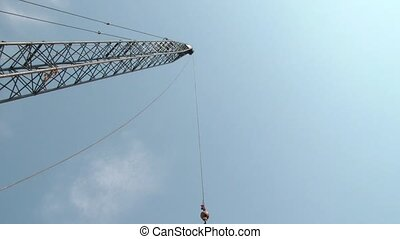 Construction Crane Time-lapse - Time-lapse of construction...