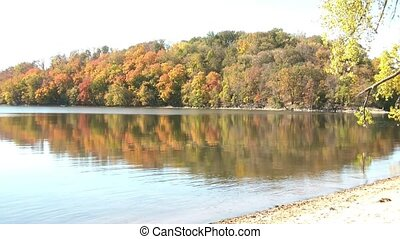 Fall Foliage Reflecting on Lake
