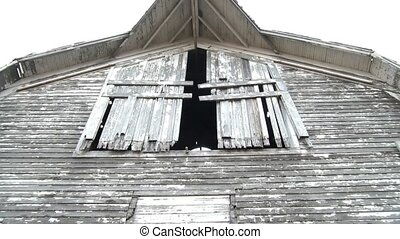 Eerie Hayloft Doors Moving - Frightening hayloft doors...