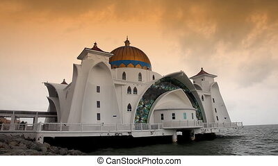 Selat Mosque in Malacca island Malaysia also known as...