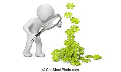 puzzle pieces man