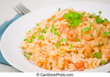 Plate of Shrimps Risotto