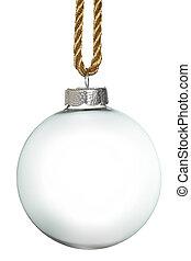 vacío, navidad, ornamento