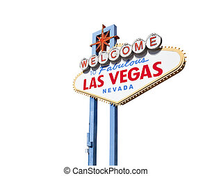 Welcome to las Vegas Sign Isolated with Clipping Path