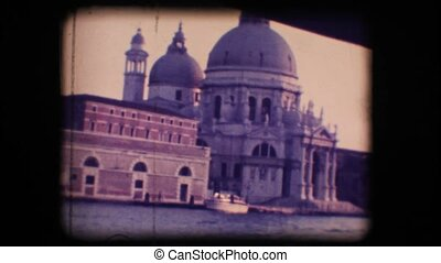 Vintage 8mm. Church in Venice