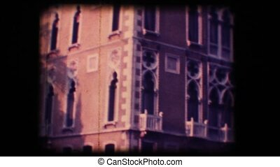 Vintage 8mm. Palace in Venice