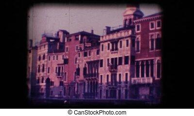 Vintage 8mm. Ferryboat in Venice