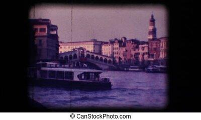 Vintage 8mm. Rialto Bridge, Venice