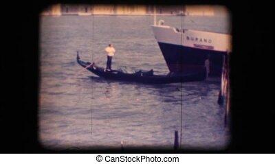 Vintage 8mm. Gondola in Venice