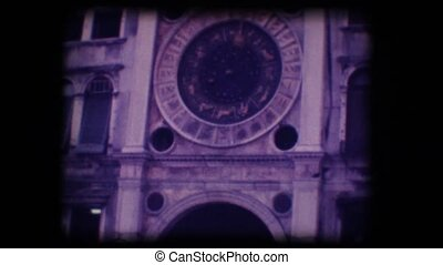 Vintage 8mm. Monument in Venice