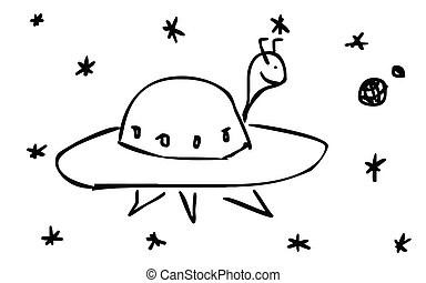 UFO - drawing flying saucer