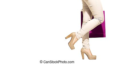 Sale Shopping Concept Isolated on White Background