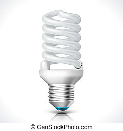 Energy saving lamp - Vector Energy saving lamp isolated on...