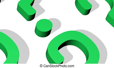 Question Mark Closeup Looping Animated Background