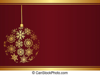 Christmas background with ornament