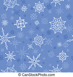 Winter, christmas, new year seamless pattern with snowflakes
