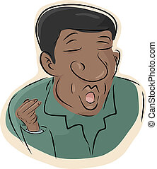 Black Man Singing - Serious Black man singing and snapping...