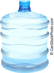 water bottle - illustration of a water bottle on a white...