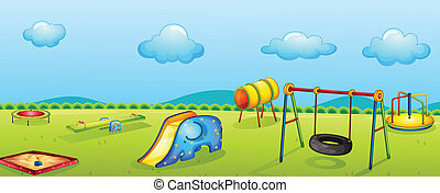 play park - illustration of a play park for children