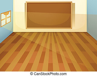 empty classroom - illustration of empty classroom on a white...