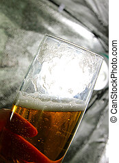 goblet with beer - scene air bladder in goblet with beer