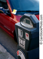 Parking Ticket - Parking ticket and meter concept with meter...