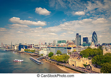 London City - Aerial view of London City