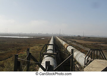 Industrial zone - water pipelinew