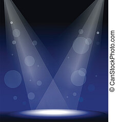spot lights on stage - illustration of a spot lights on...