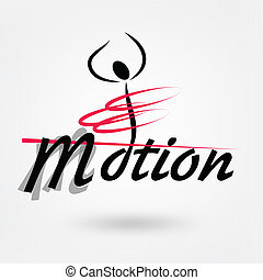 motion sport vector logo design
