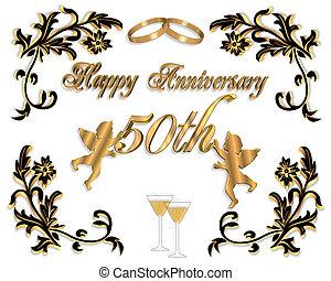 50th, matrimonio, anelli, Scheda