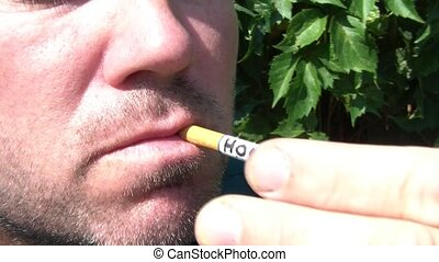 How Do I Quit Smoking Written on Smoking Cigarette -...