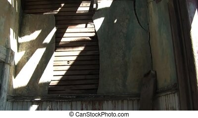 Inside of Abandoned Farm House - Panning of run down...