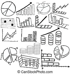 Statistic graphs - Collection of statistic graphs sketch...