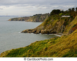 Howth Cliffs Ireland - Small house on a Cliffs near Howth...