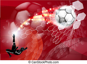 Abstract Soccer Sport Background - An abstract red soccer...
